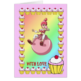 Bubblegum girl and the gingerbread men cards