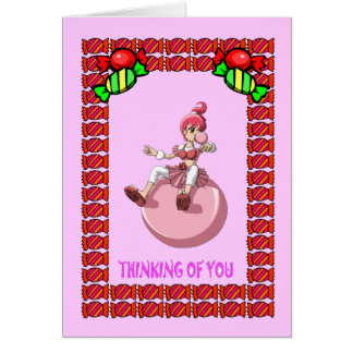 Bubblegum girl and the toffees greeting card