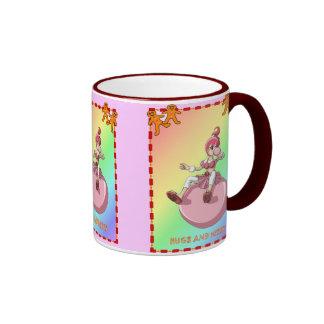 Bubblegum girl with gingerbread men mugs