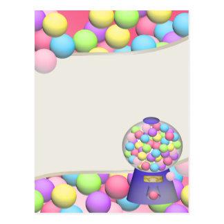 Bubblegum Gumballs and Machine Postcard