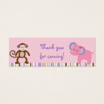 Bubblegum Jungle Animal Party Favor Gift Tags