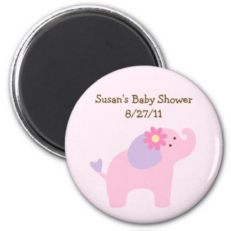 Bubblegum Jungle Elephant Baby Shower Magnet