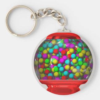 Bubblegum Machine Basic Round Button Keychain