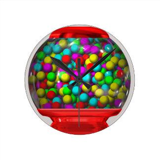 Bubblegum Machine Round Clock