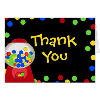 Bubblegum Party/ Thank You Card