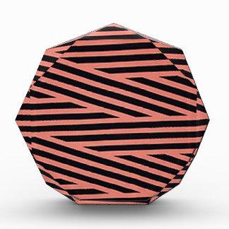 Bubblegum Pink and Black Hacky Stripes Award