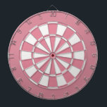 "Bubblegum Pink and White Dartboard<br><div class=""desc"">Bubblegum pink and white dart board.</div>"