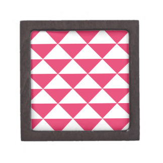 Bubblegum Pink and White Triangles Keepsake Box