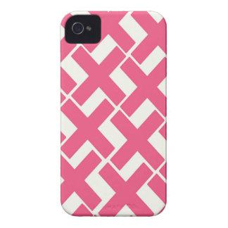 Bubblegum Pink and White Xs Case-Mate iPhone 4 Case