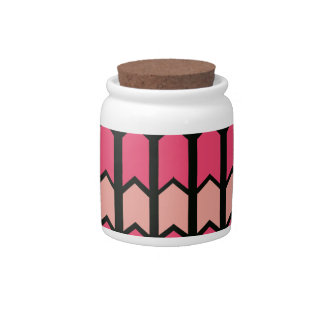 Bubblegum Pink Bordered Fence Panel Candy Dishes