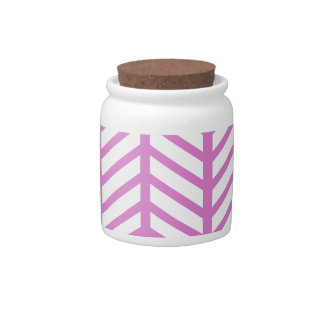 Bubblegum Pink Chevron Folders Candy Dishes