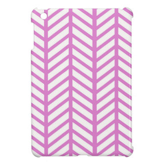 Bubblegum Pink Chevron Folders Cover For The iPad Mini