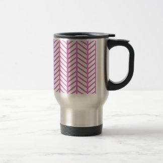 Bubblegum Pink Chevron Folders Travel Mug