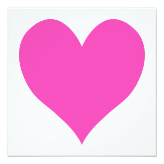 Bubblegum Pink Cute Heart Shape Card