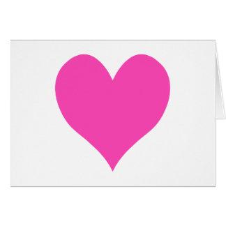 Bubblegum Pink Cute Heart Shape Stationery Note Card