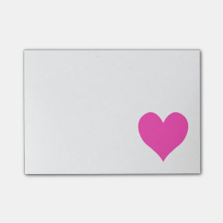 Bubblegum Pink Cute Heart Shape Post-it Notes