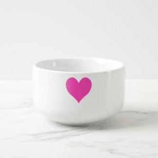 Bubblegum Pink Cute Heart Shape Soup Mug