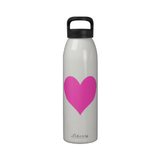 Bubblegum Pink Cute Heart Shape Drinking Bottle