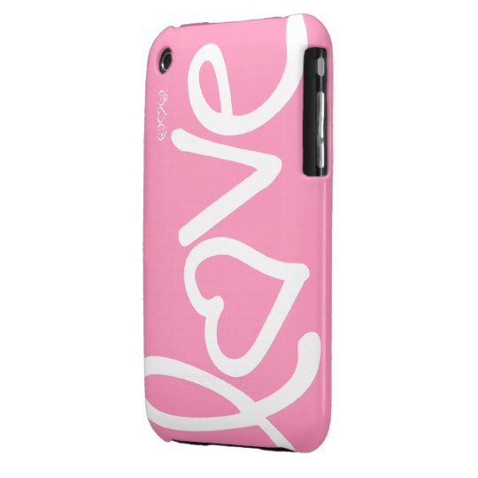 bubblegum pink - love Case-Mate iPhone 3 case