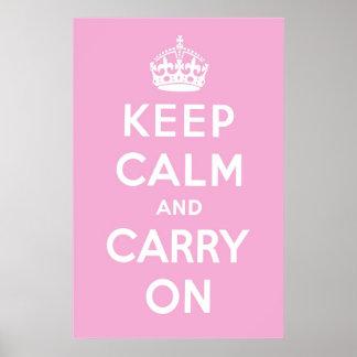 Bubblegum Pink Poster