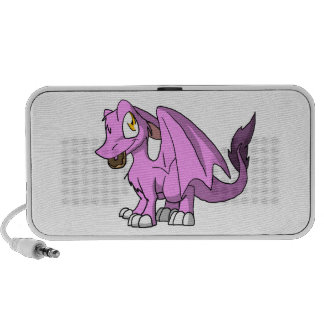 Bubblegum/Pink SD Furry Dragon w/ Donut Notebook Speaker