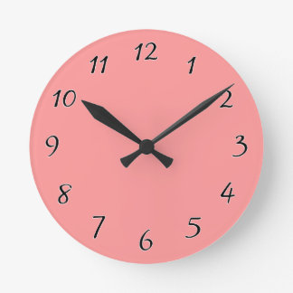 Bubblegum pink template to personalize Customize Round Clock