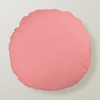 Bubblegum pink template to personalize Customize Round Pillow