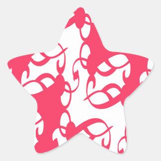 Bubblegum Pink Victorian Lace Star Sticker