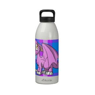 Bubblegum SD Furry Dragon w Tartan Back 1 Reusable Water Bottle