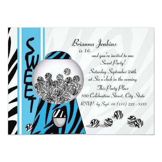 Bubblegum Stripes/ Blue Card