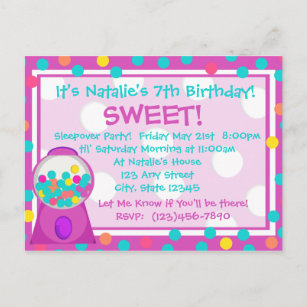 Bubble gum birthday invitations zazzle bubblegum treat invitation filmwisefo