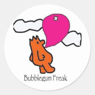 BubblegumFreak Classic Round Sticker