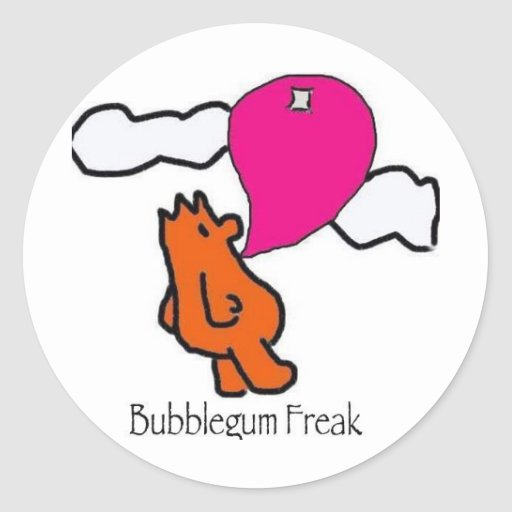BubblegumFreak Etiqueta Redonda