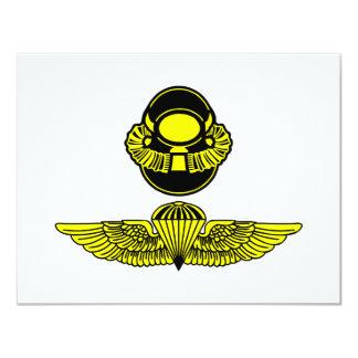 Bubblehead Helmet & Jumpwings 4.25x5.5 Paper Invitation Card