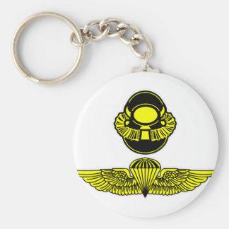 Bubblehead Helmet & Jumpwings Basic Round Button Keychain