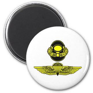 Bubblehead Helmet & Jumpwings 2 Inch Round Magnet