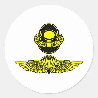 Bubblehead Helmet & Jumpwings Classic Round Sticker