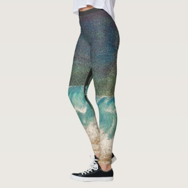 Beach Themed Bubblepacific leggings