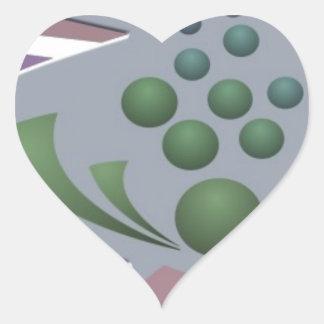 Bubbles 3 heart sticker