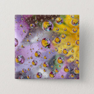 Bubbles abstract with flowers. Credit as: Nancy Pinback Button