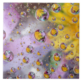 Bubbles abstract with flowers. Credit as: Nancy Tile