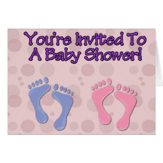 Bubbles and Feet Baby Shower Invitation