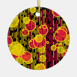 Bubbles and lines ceramic ornament