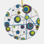 Bubbles and Lines Christmas Ornament