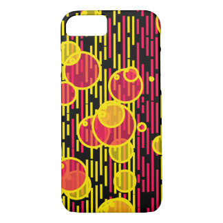 Bubbles and lines iPhone 7 case