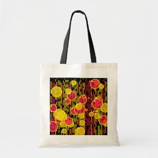 Bubbles and lines tote bag