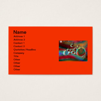 Bubbles and Raven Abstract Planets Business Card