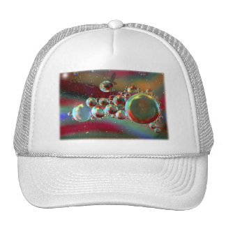 Bubbles and Raven Abstract Planets Trucker Hat