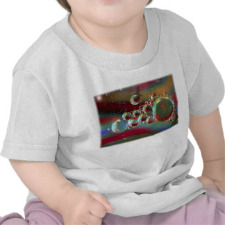 Bubbles and Raven Abstract Planets Tshirts