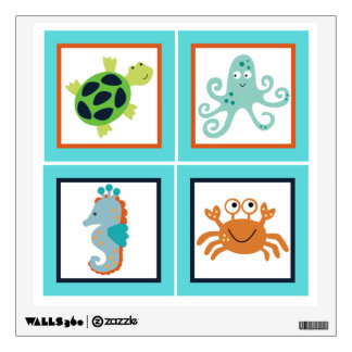 Bubbles and Squirt Sealife Wall Decal